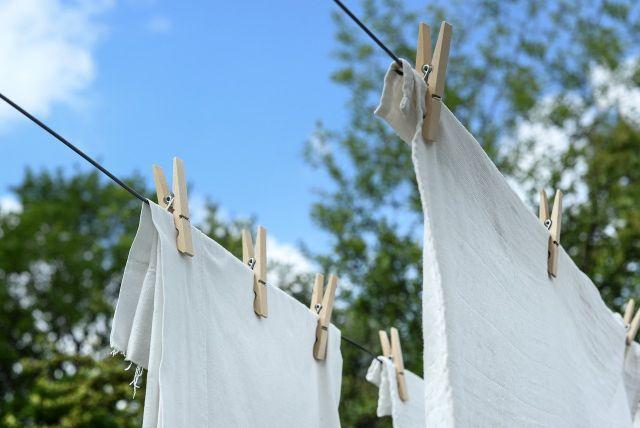 洗濯天日干し