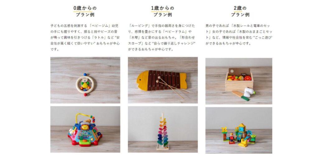キッズ・ラボラトリーおもちゃの例